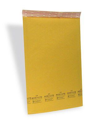 """100 #4 9.5x14.5 """" ECOLITE """" Kraft Bubble Mailers Padded Envelopes Bags"""