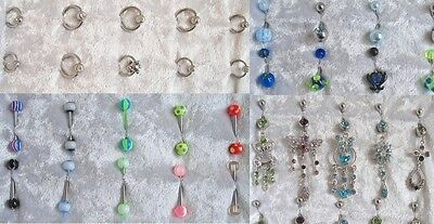 Wholesale Body Piercing Jewellery Tongue Belly Bar Nipple Ear Ring Labret Tragus