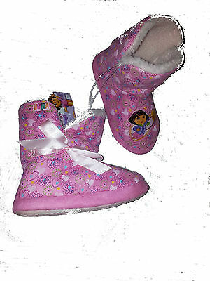 Dora The Explorer Slippers Ankle Boot Girls Pull On Pink Size 7 Or 11 Only