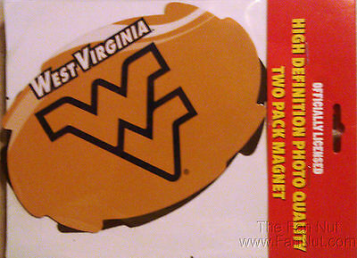 """West Virginia Mountaineers 2-pack Magnet 4""""x6"""" Auto Home University of"""