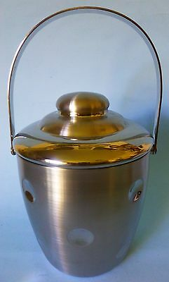 Marquis Waterford Ice Bucket Stainless Steel Dimpled Nice