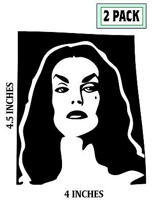 2 PACK VAMPIRA Stickers  Plan 9 from Outer Space  Béla Lugosi