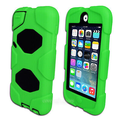 NEW Green Tough Protective Heavy Duty Case for iPod Touch 5 6 5th 6th Gen Cover