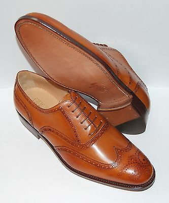 Man Oxford Wingtip - Antiqued Tan Bombay Calf - Perfs&medallion - Lth Sole/rapid