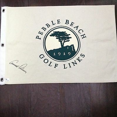 Arnold Palmer Signature Pebble Beach Embroidered Pin Flag PGA Open Nicklaus Wood