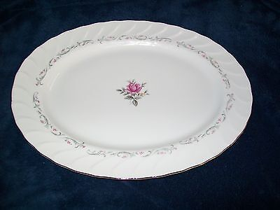 Royal Swirl Oval Serving Platter by Fine China of Japan MS 14 1/2""