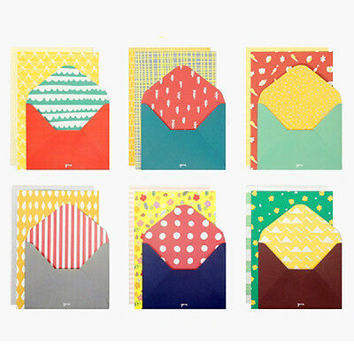 Vivid colorful pattern letter set - 2 writing stationary paper 1  envelope