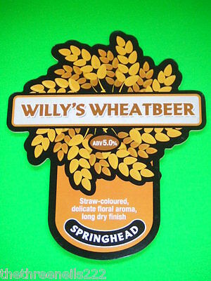 Beer Pump Clip - Springhead Willy's Wheatbeer