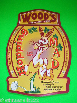 Beer Pump Clip - Wood's Hopping Mad