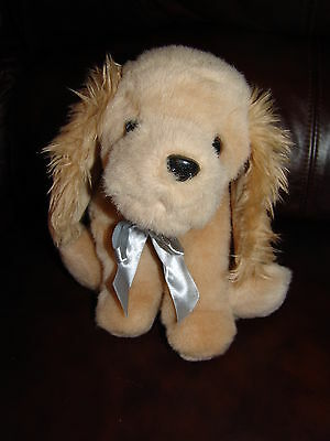 """The Bearington Collection Light Brown Puppy Dog Plush Beanie Doll 11"""""""