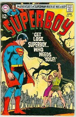 Superboy #157 June 1969 VG Neal Adams Cover Wally Wood Inks Last 12 Cent Issue