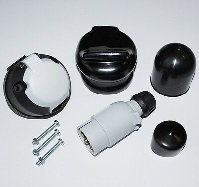 12S 7 Pin Towing Electrics Plug & Socket Kit  For Caravan