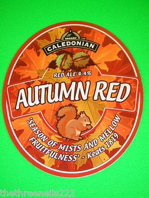 Beer Pump Clip - Caledonian Autumn Red - Squirrel