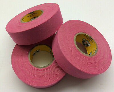 Pink Hockey Stick Tape - 1x27 Yards - 3 Rolls - Howies Hockey Tape - Grip Tape