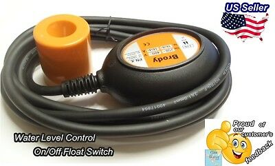 BRODY Automatic Float Switch Water Level Sensor on/off control with 10' Cable
