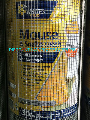 PREMIUM MOUSE / SNAKE / VERMIN WIRE MESH - 90cm x 6.5mm x 6.5mm x 0.63mm x 30m