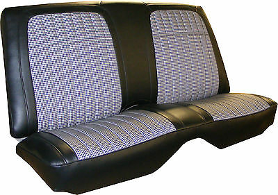 1969 Camaro Deluxe Cloth Insert Rear Folding Seat Cover 3 Color Combos Available