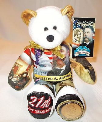President Chester Arthur Dollar Coin bear #21 in series by Limited Treasures