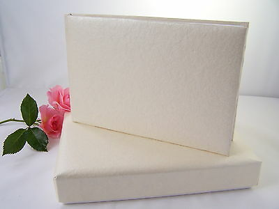 Plain, blank, undecorated cream guest book. DIY Wedding /Christening Guest Book.