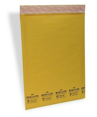 200 #2 8.5x12 Kraft Bubble Mailers Padded Envelopes - ECOLITE from TheBoxery