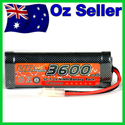 3600 mAh 7.2V Rechargeable NiMH Battery for RC Car Buggy Truck Tamiya HSP 030201