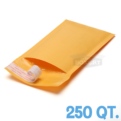 250 #00 5x10 KRAFT BUBBLE MAILERS PADDED MAILING ENVELOPE from TheBoxery