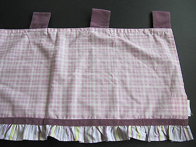 CoCALo BABY  SUGAR PLUM WINDOW VALANCE PURPLE AND GREEN     EUC