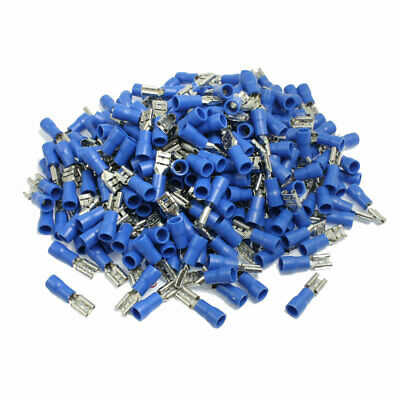 300 x Blue PVC Insulate Sleeve Wiring Crimp Terminals Cable Lugs AWG 16-14