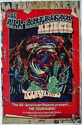 THE ALL-AMERICAN REJECTS - Tournado PROMO Poster TYSON RITTER Nick Wheeler RARE