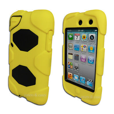 NEW Yellow Tough Protective Heavy Duty Case for Apple iPod Touch 4 4th Gen Cover