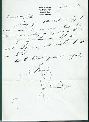 WWII Ace James Goodson Signed letter
