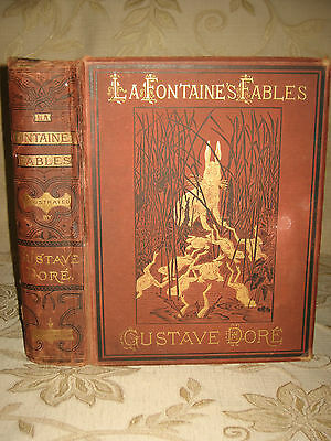 Rare Antique Collectable Book Of The Fables Of La Fontaine - c1870