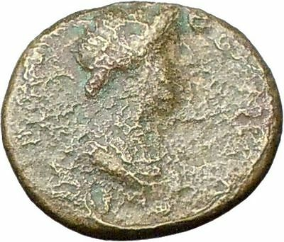 Greek City 50AD under Romans Ancient Greek Coin Roman Senate Zeus  i28187
