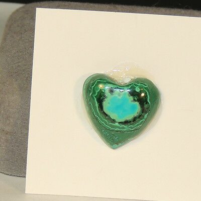 Malachite and Chrysocolla Heart Cabochon 13x19mm (4376)