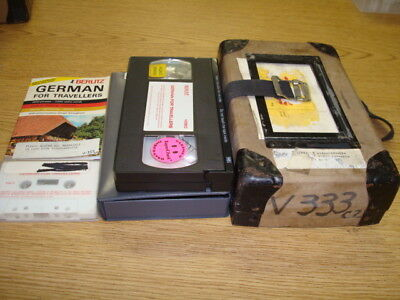 Berlitz german for Travelers VHS video, Audio cassette & Dictionary
