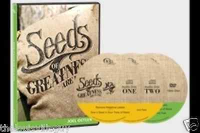 "Joel Osteen ""Seeds of Greatness..Are in You!"" 2 CD & 1 DVD Series"