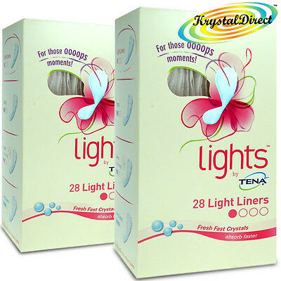 2x Lights By Tena 28 Light Liners With Feel Fresh Technology