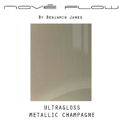 High Gloss Metallic Champagne Kitchen Door Fronts - High Quality