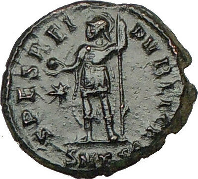 CONSTANTIUS II w globe Constantine the Great son  Ancient Roman Coin i18447