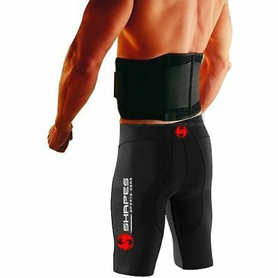 "Double Pull Magnetic Lumbar Lower Back Support Belt Brace Pain Relief - 26""-50"""