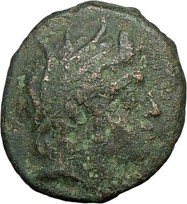 Philip V & Perseus Ancient Rare Greek Coin River God Strymon  Trident  i19553