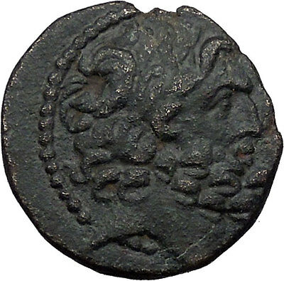 Antioch in SELEUKIS AND PIERIA 47BC Rare Ancient Greek Coin ZEUS Tripod i31128