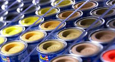 REVELL-COLOUR 14ML ENAMEL PAINT TINLETS x12 COLOURS OF YOUR CHOICE