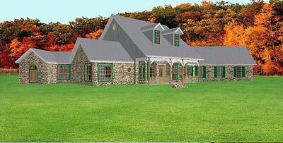 2828sf House Plans Blueprints by Architect 3/3/2 - 1 story