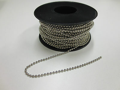 Ball chain stainless steel 2.4mm x 30 meter roll