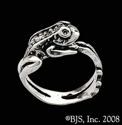 Sterling Silver Frog Ring, Frogs, Frog Jewelry, Your Size, New