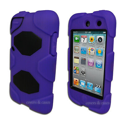 NEW Purple Tough Protective Heavy Duty Case for Apple iPod Touch 4 4th Gen Cover