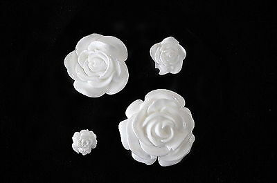 2D Rose set , Silicone Mold Chocolate Polymer Clay Jewelry Soap Wax Resin