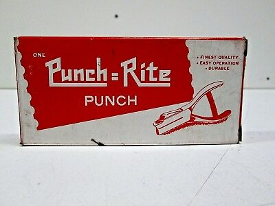Punch = Rite 402 Vintage Hand Held Hole Puncher **GENUINE** (FREE USA SHIPPING!)