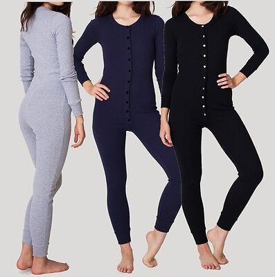Ladies Nightwear 1Onesie1 Playsuit Jumpsuit All In One  Buttoned Womens Comfy